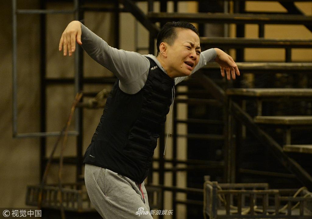 宋丹丹排练超入戏 时而大鹏展翅时而声嘶力竭