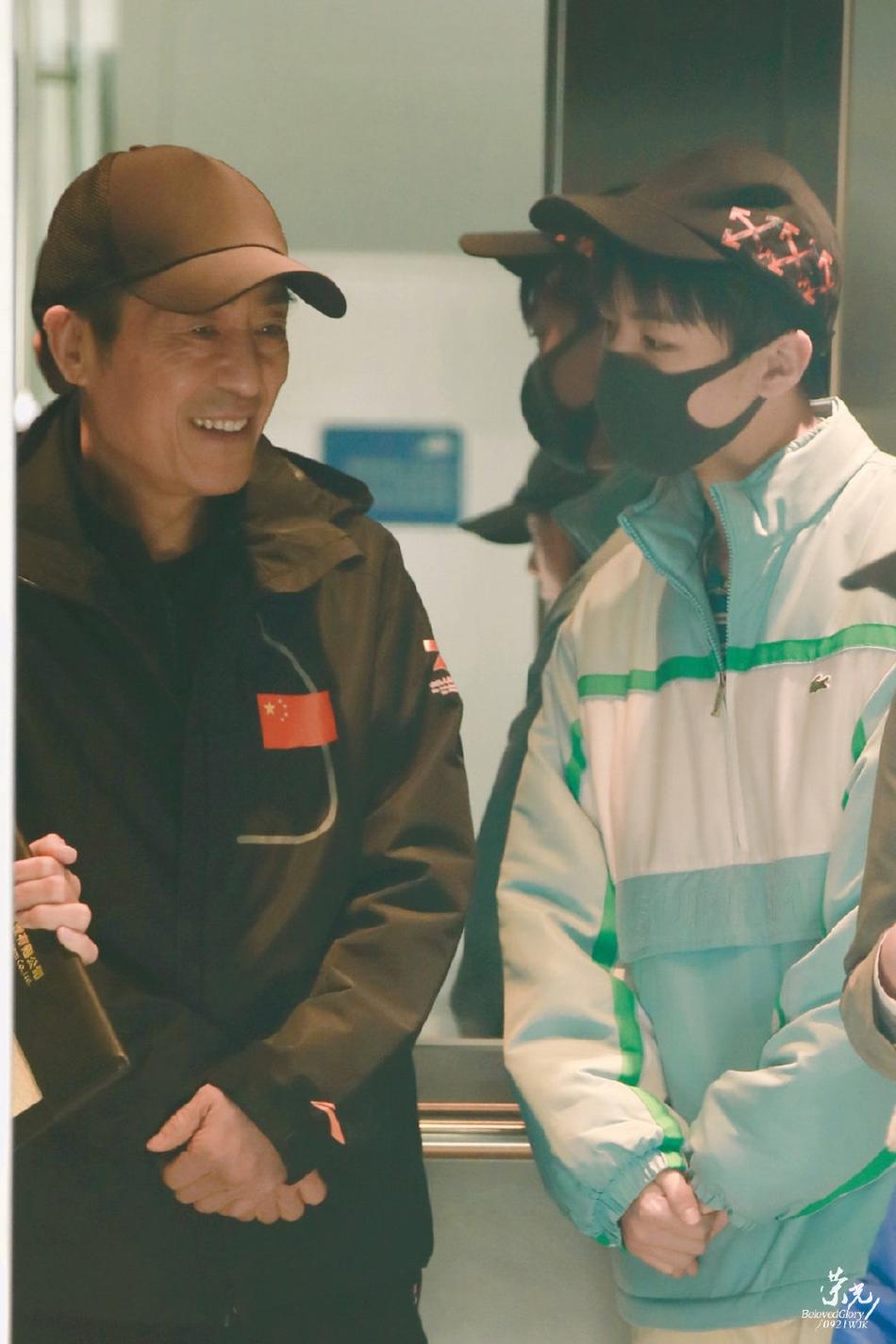 王俊凯机场偶遇张艺