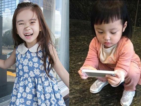 韩国6岁小萝莉美照走红 与可爱小四月萌照比拼图片
