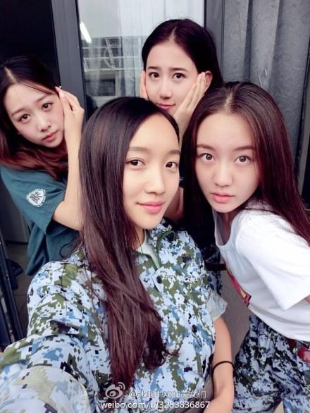 2014级中戏美女新生军训照