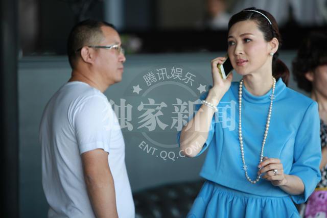 童蕾为女儿摆周岁宴 董事长老公首度曝光 图