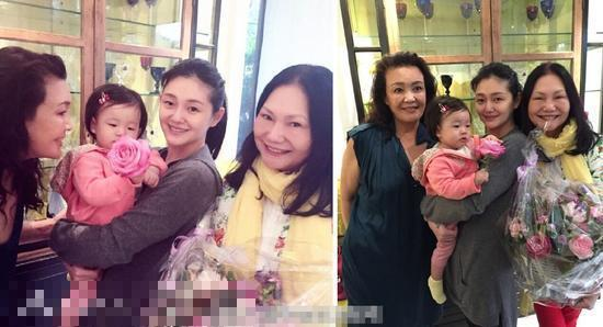 大S抱女兒和婆婆媽媽合影