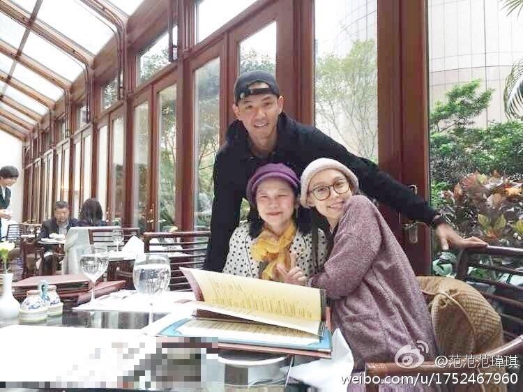 范瑋琪的媽媽與女兒女婿