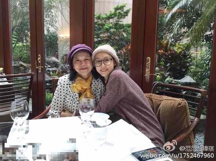 范瑋琪和媽媽