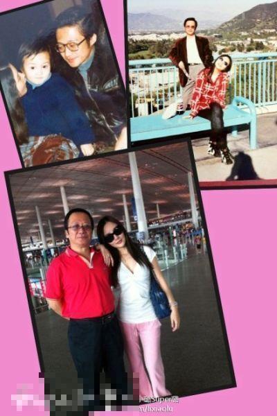 李小璐和爸爸
