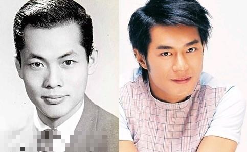 古天樂的爸爸(左)