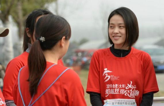刘翔女友吴莎素颜亮相 参加公益跑获粉丝喊翔嫂